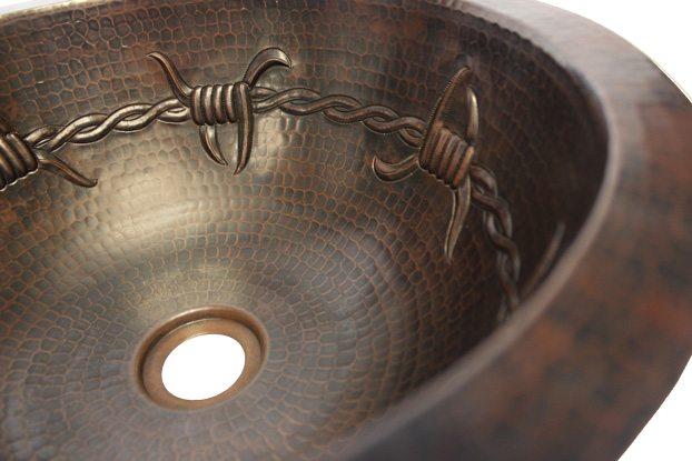 14 Quot Round Copper Sink Barbed Wire Jazz Sales