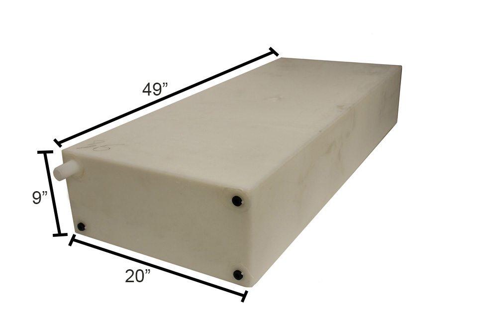 water tank 20 w x 49 l x 9 h 35 gallon model w0124 674. Black Bedroom Furniture Sets. Home Design Ideas