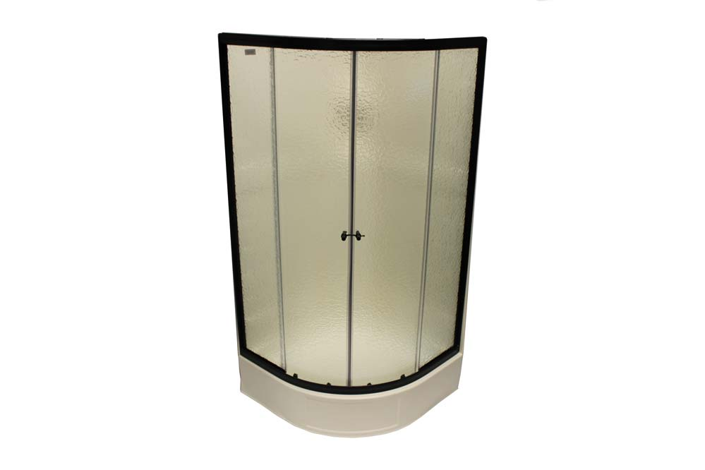 "36"" Round Shower Door With Obscured Glass"