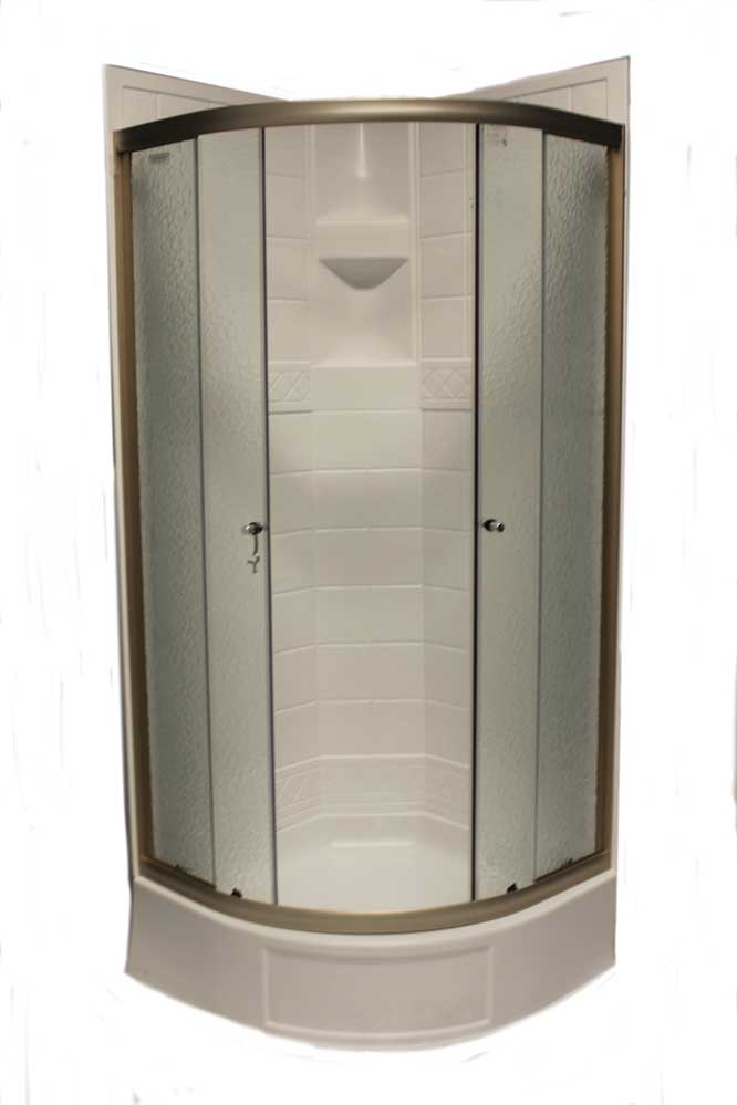32u2033 Round Shower Door with Obscured Glass u2013 Nickel  sc 1 st  Jazz Sales & 32