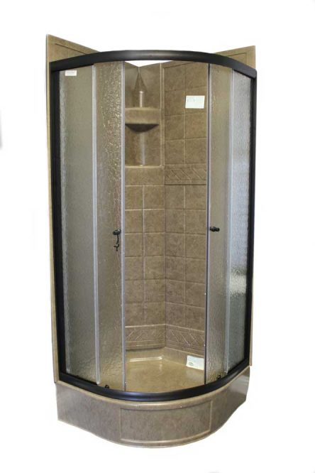 32 Quot Round Shower Door With Obscured Glass Oil Rubbed