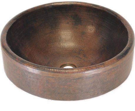 17u2033 Double Walled Vessel Copper Sink