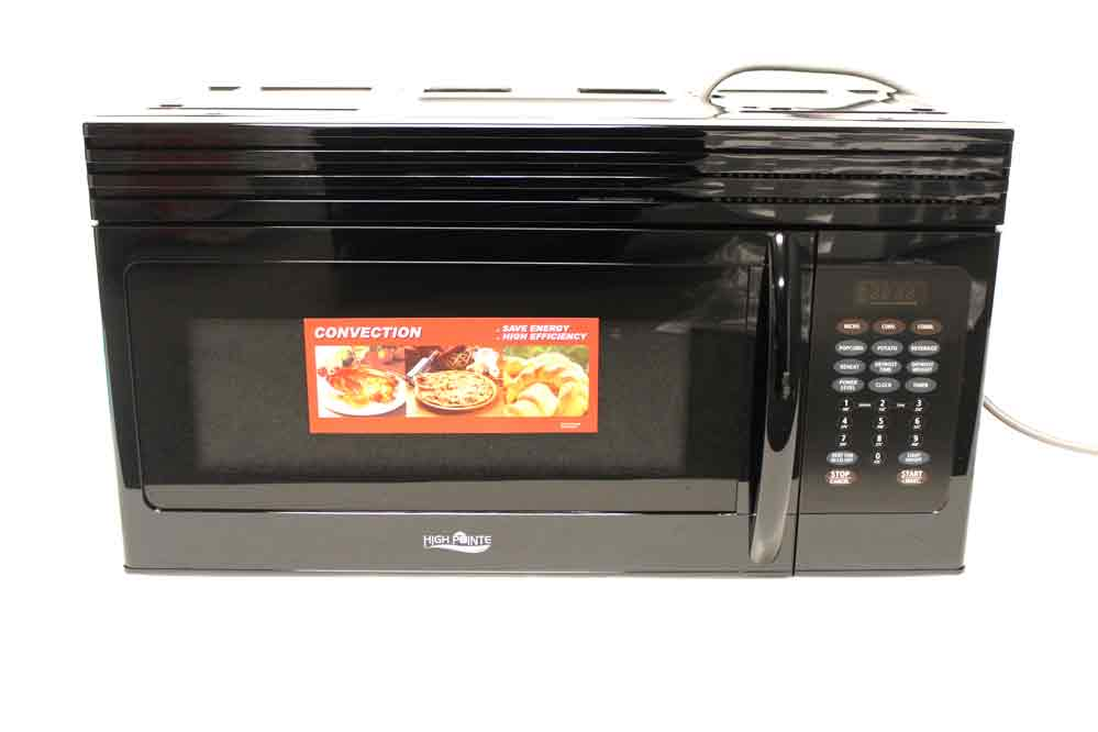 High Pointe Over The Range Convection Microwave 1 5 Cubic Ft Black
