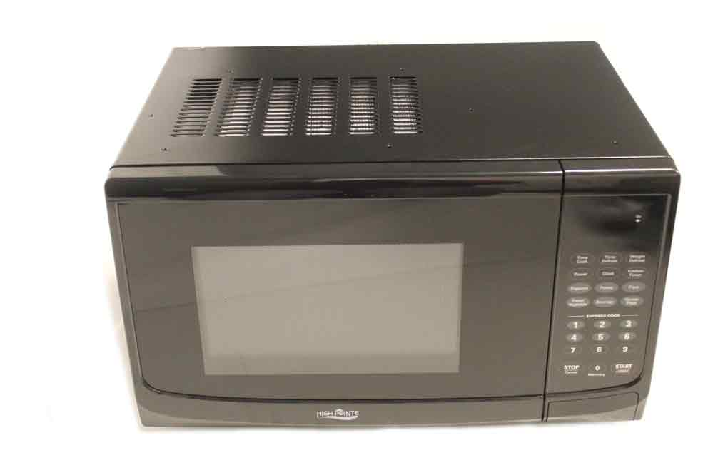 high pointe 900w microwave 1 cubic ft with trim kit. Black Bedroom Furniture Sets. Home Design Ideas