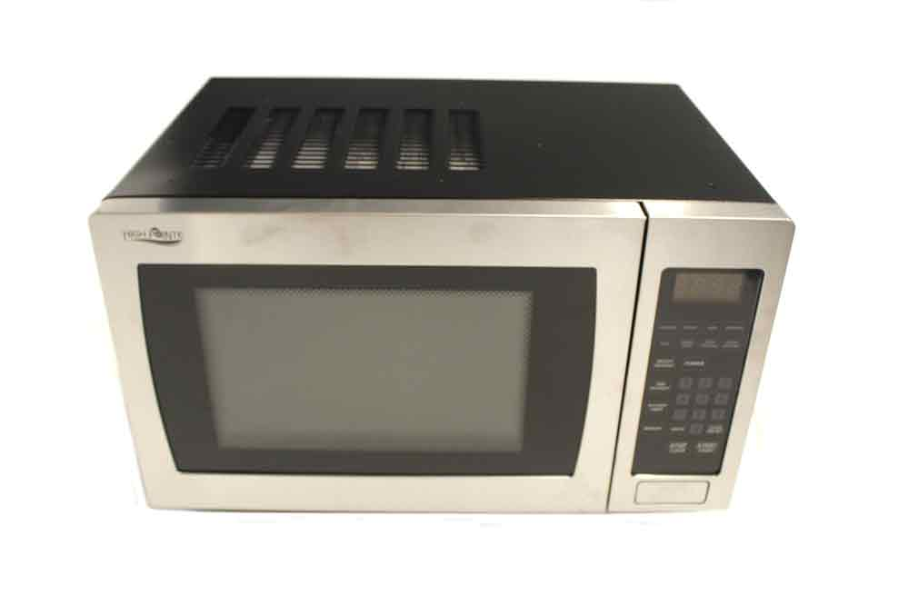 High Pointe 900w Microwave 1 Cubic Ft With Trim Kit Stainless Steel