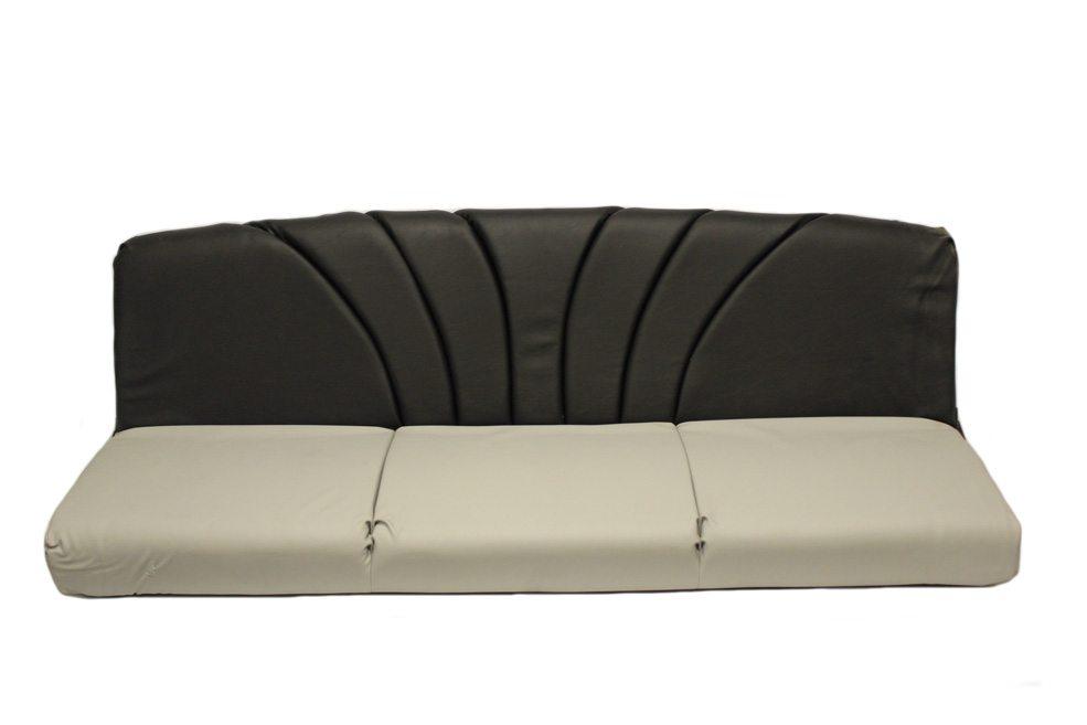 76u2033 Two Tone Sofa U2013 Grey U0026 Black