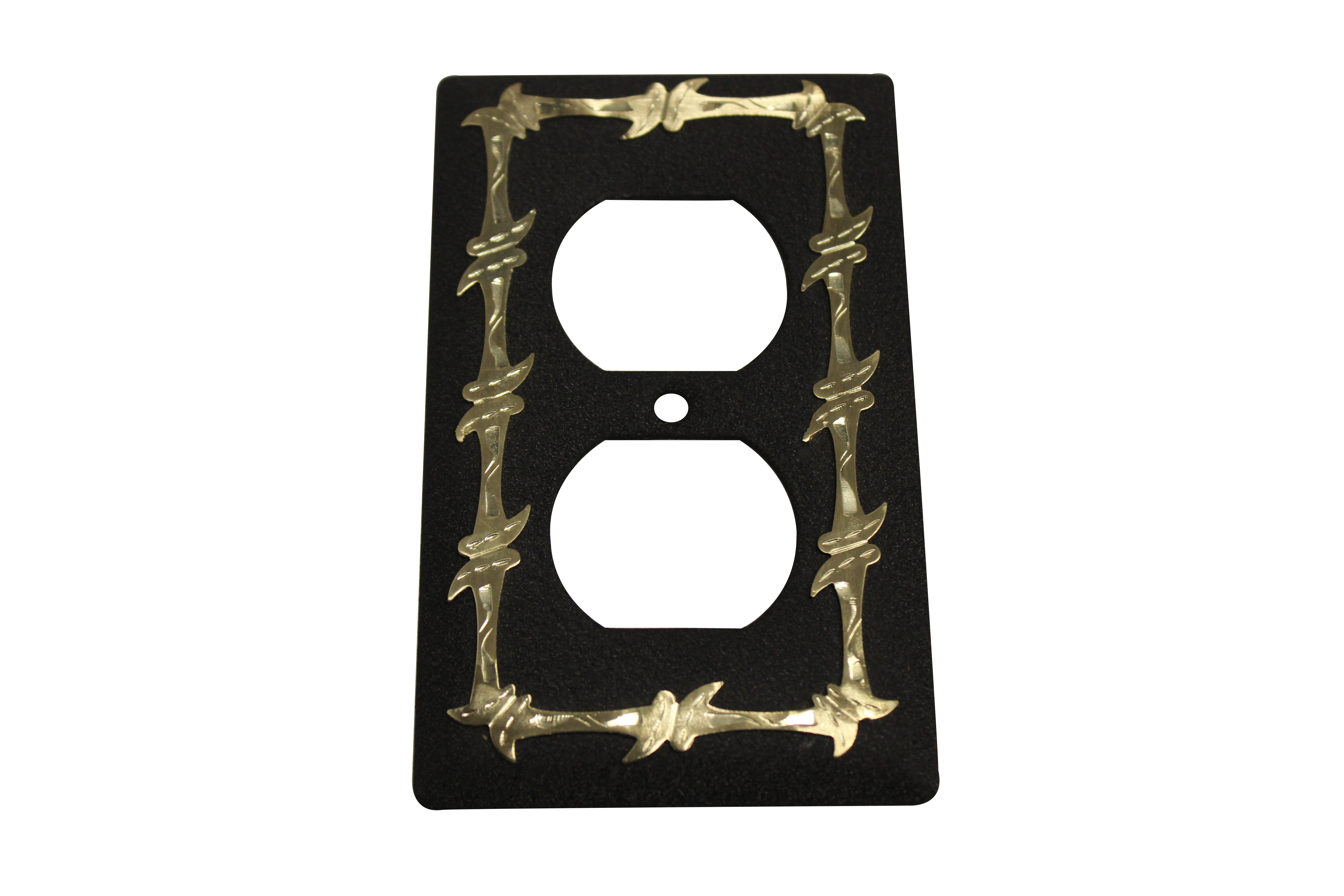 Barbed Wire Outlet Plate Cover - Black - Jazz Sales