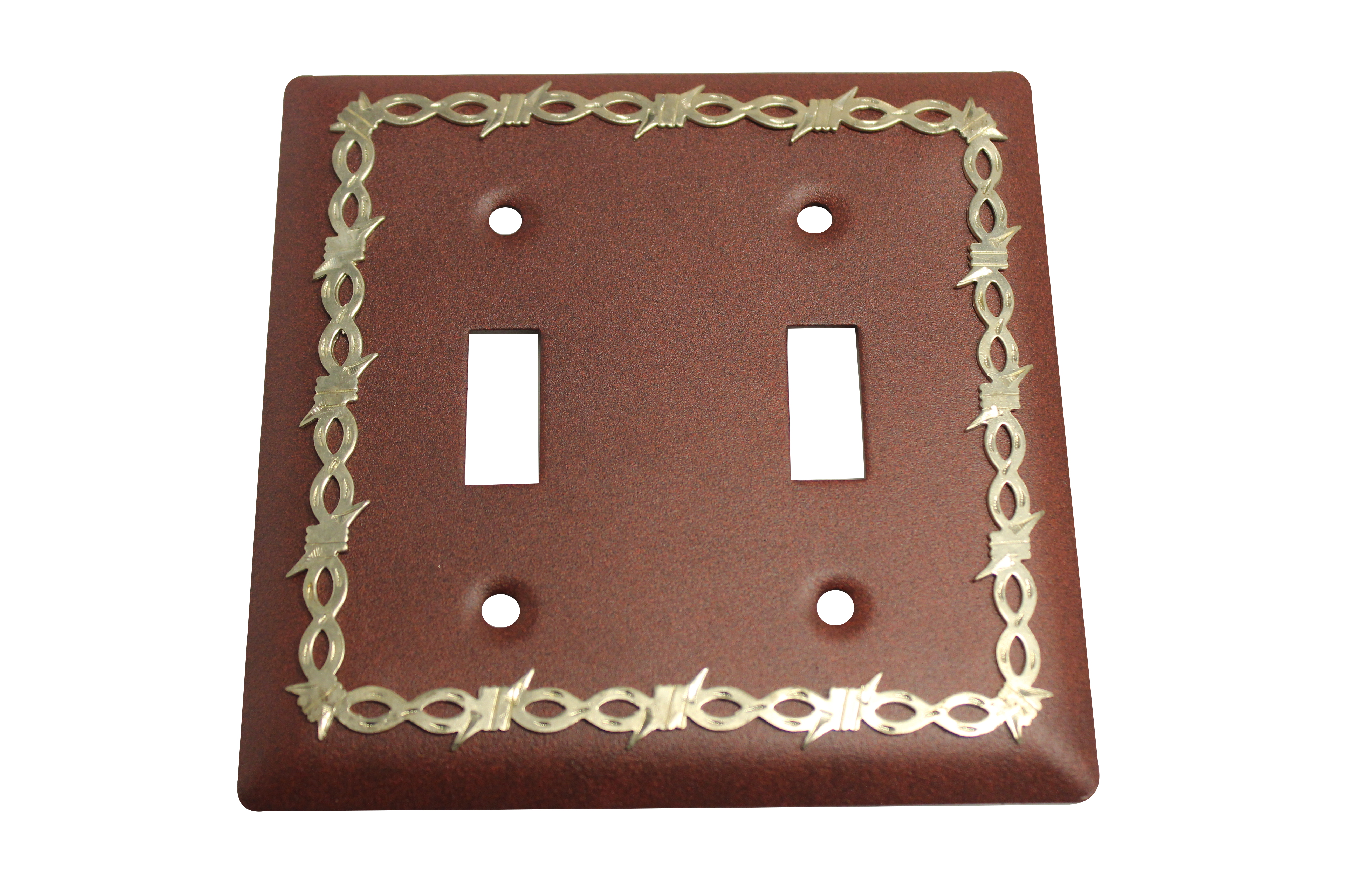 Barbed Wire Double Switch Plate Cover - Antique - Jazz Sales