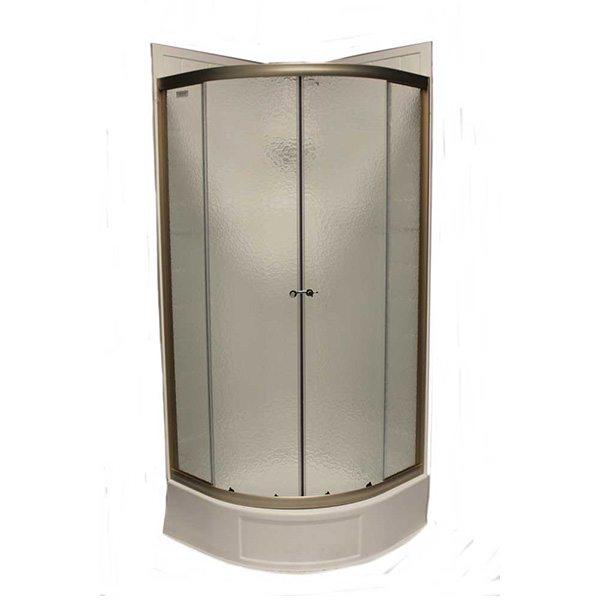 32 Quot Round Shower Door With Obscured Glass Nickel Jazz