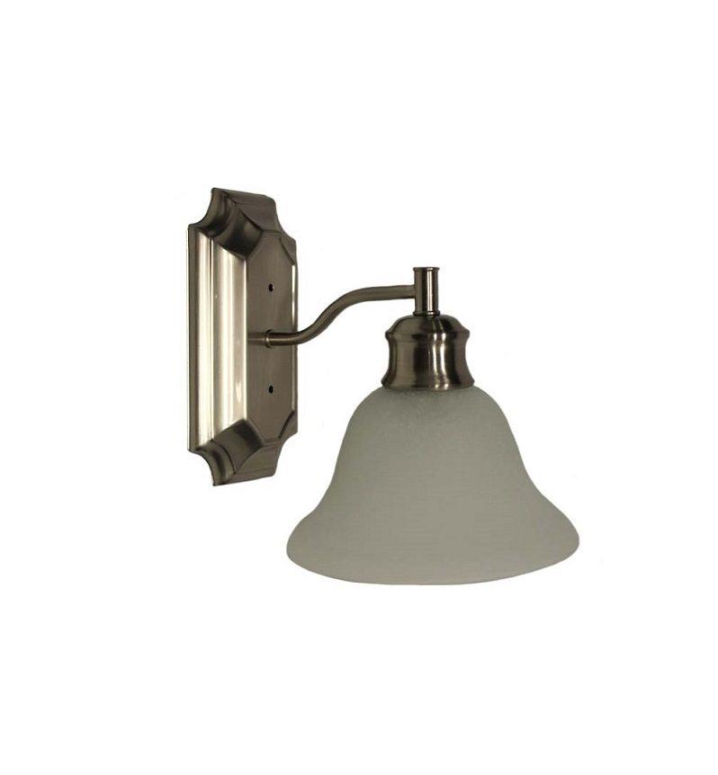 Wall Mounted Globe Lamp : Single Globe Wall Mount Light - Brushed Nickel with Alabaster Glass - Bristol Style - Jazz Sales