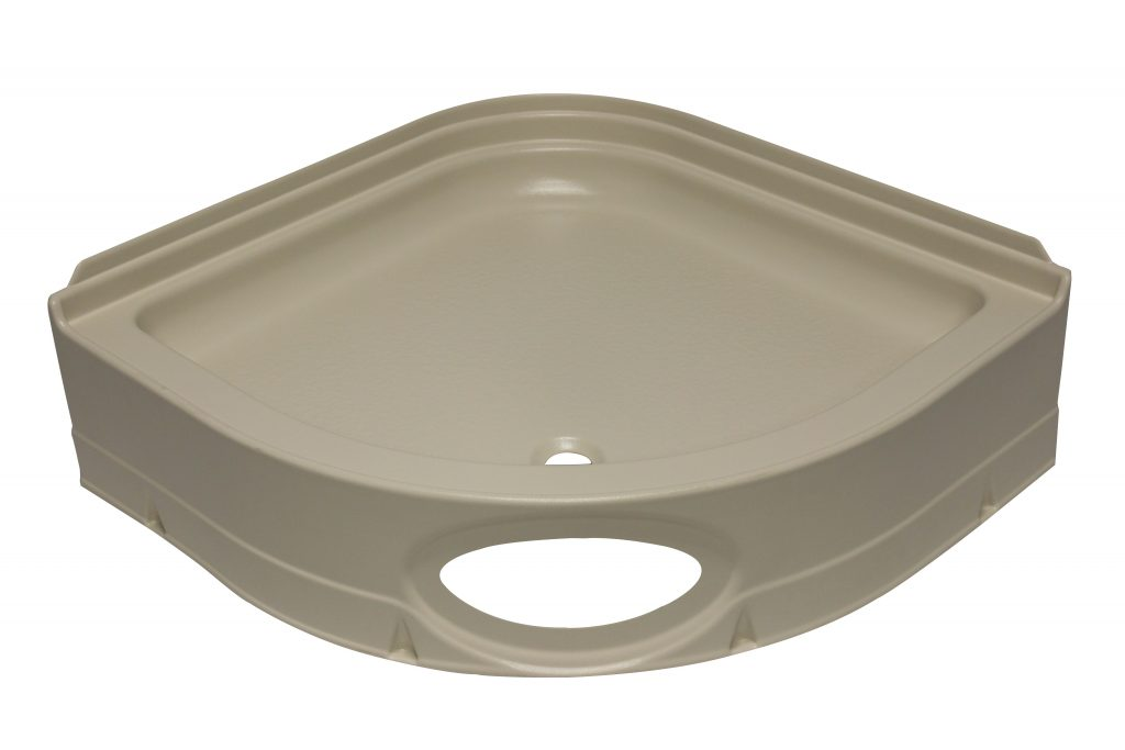 32 Quot Curved Shower Pan With Round Front Parchment Jazz