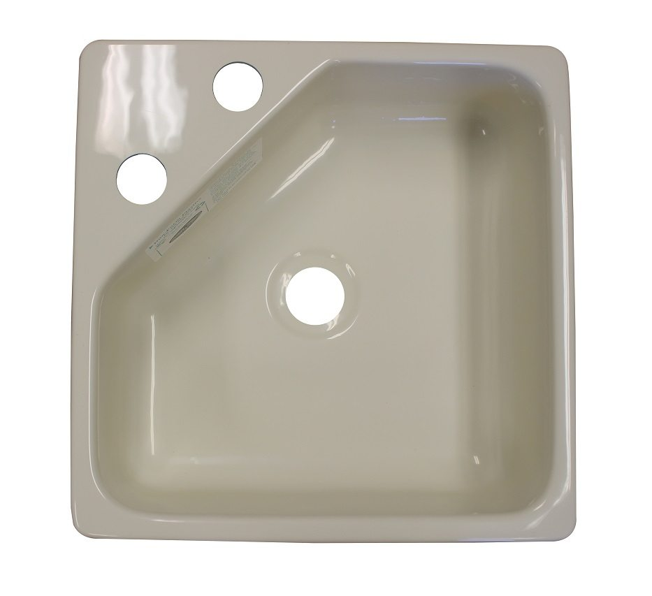 Merveilleux 15u2033 X 15u2033 Acrylic Utility Sink With Corner Faucet Mount U2013 Biscuit Color