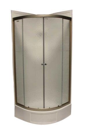 32″ Round Shower Door with Obscured Glass – Nickel