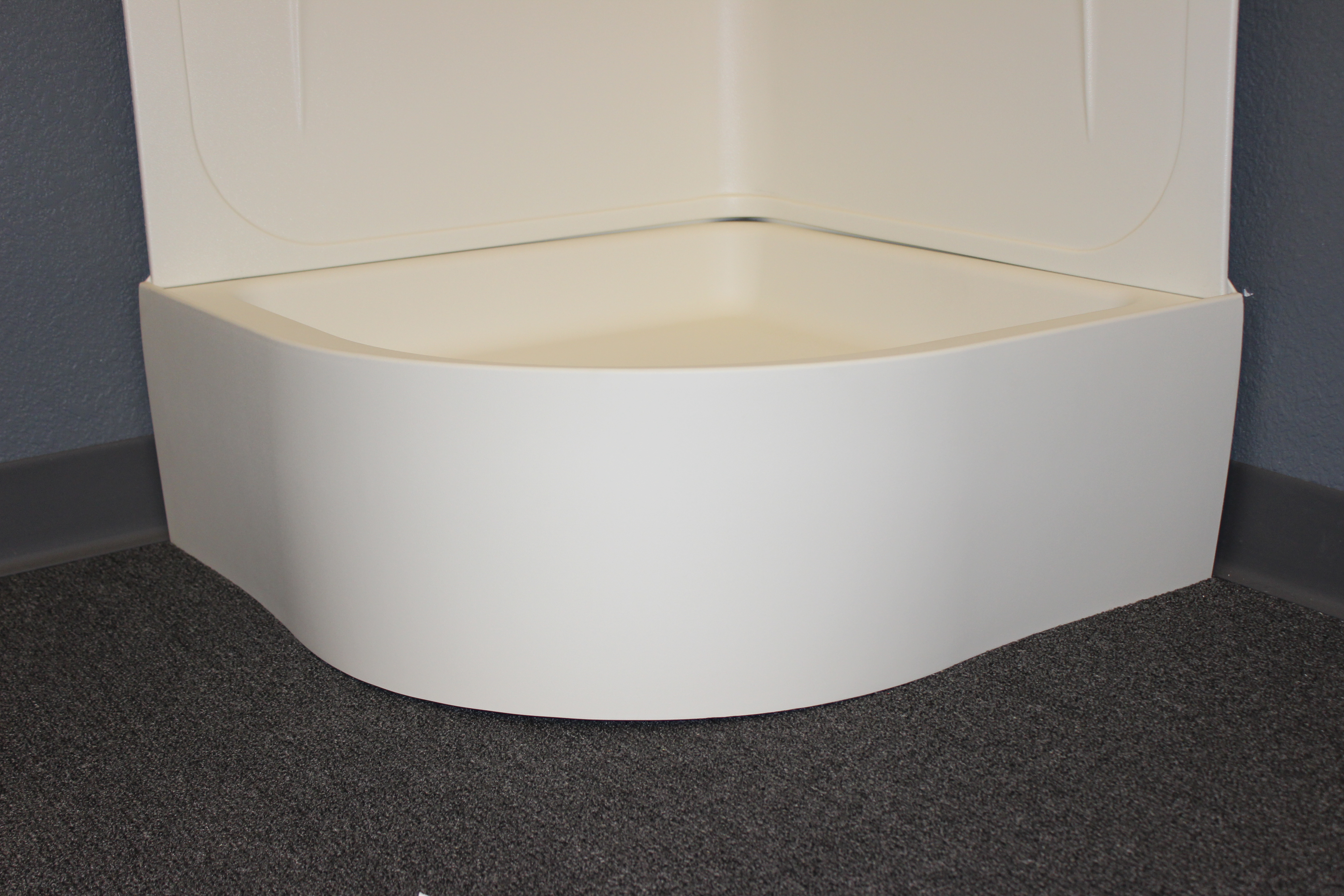 27 Quot Curved Shower Pan White Jazz Sales