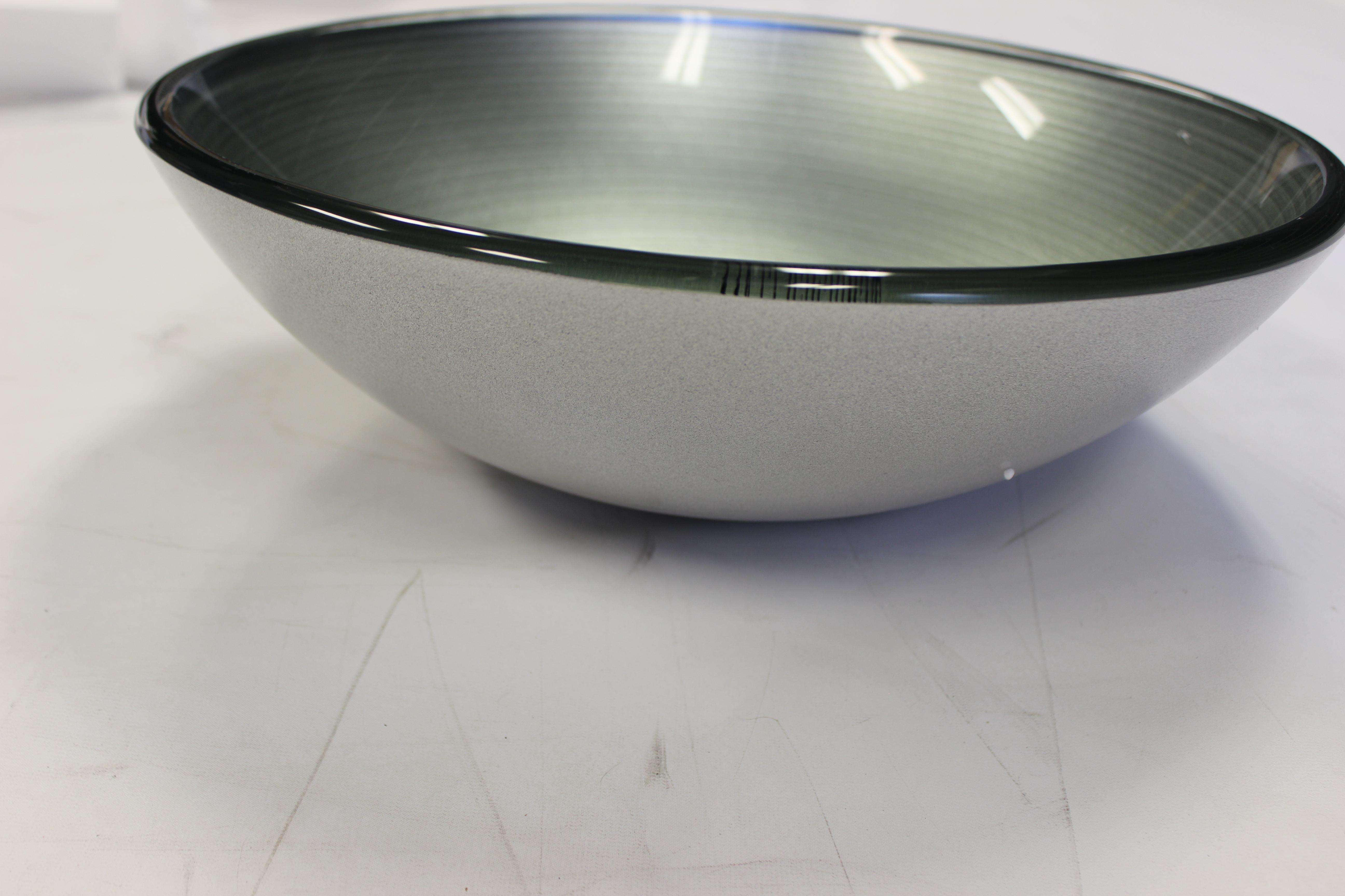 16u2033 Silver Glass Bowl Vessel Sink